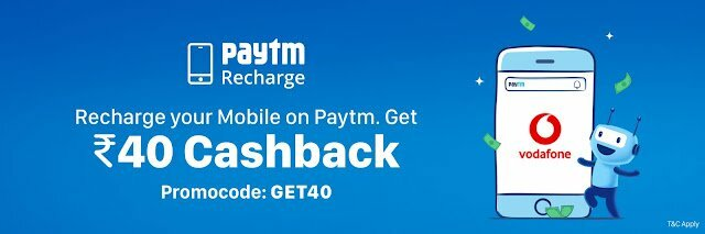 Paytm Vodafone Recharge Offer