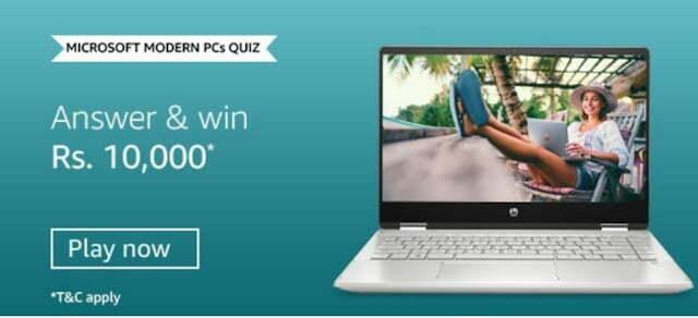 Amazon Microsoft Modern PC's Quiz Answers