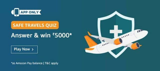 Amazon Safe Travel Quiz Answer