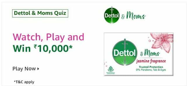 Amazon Dettol Quiz Answers