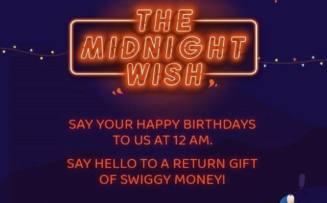 Wish To Swiggy Today 12 AM-1 AM And Win 500-6000 Swiggy Money