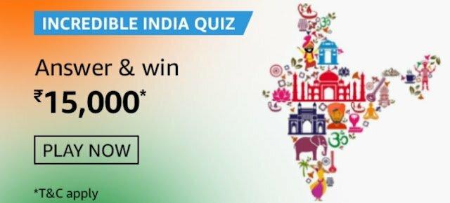 Amazon Incredible India Quiz Answers
