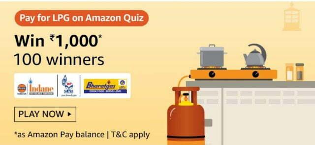 Amazon Pay For LPG on Amazon Quiz Answers