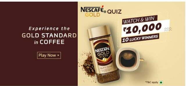 Amazon Nescafe Gold Quiz Answers
