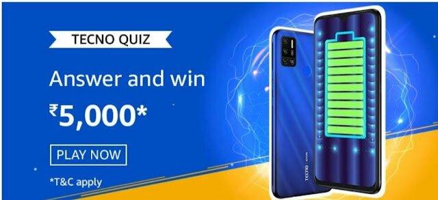 Amazon Techno Quiz Answers