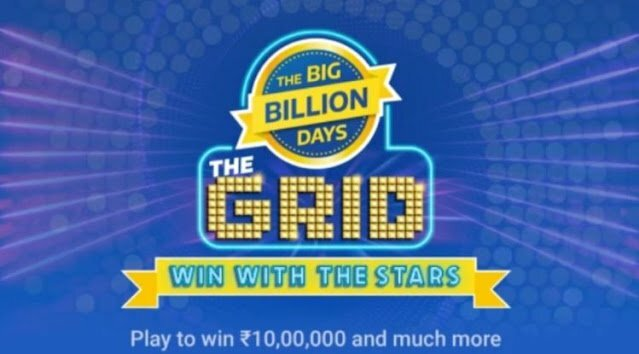 Flipkart The Grid Big Billion Day Quiz Answe