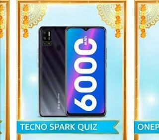 Amazon Techno Spark Quiz Answers