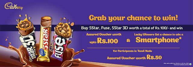Buy Cadbury 5Star & Get ₹100 Amazon Voucher Free