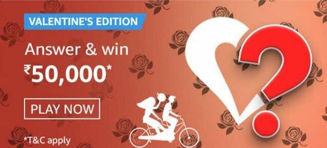 Amazon Valentine's Edition Quiz Answers
