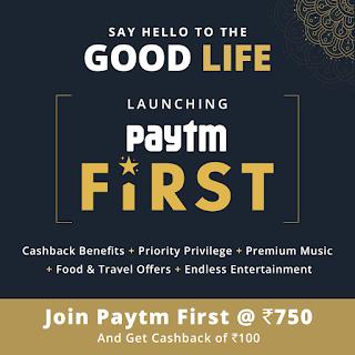 Paytm First Membership offer