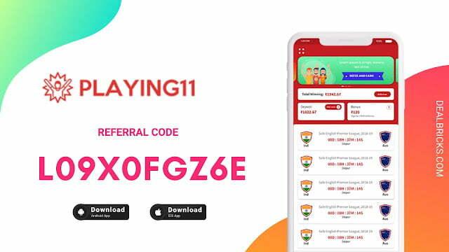 Play11 Fantasy App Referral Code