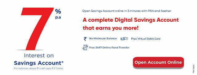 Equitas- Open Free Savings Account Online