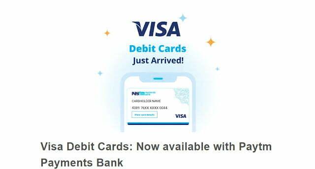 Paytm International Visa Debit Card
